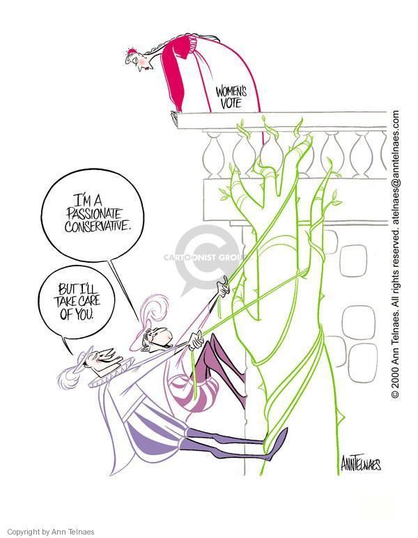 Cartoonist Ann Telnaes  Ann Telnaes' Editorial Cartoons 2000-09-27 Al Gore
