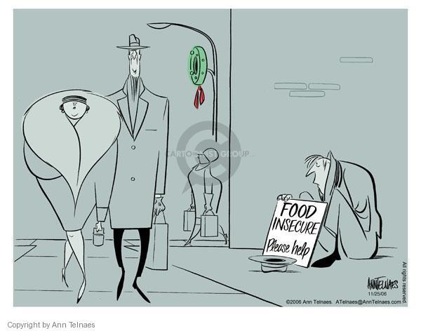 Ann Telnaes  Ann Telnaes' Editorial Cartoons 2006-11-25 affluence