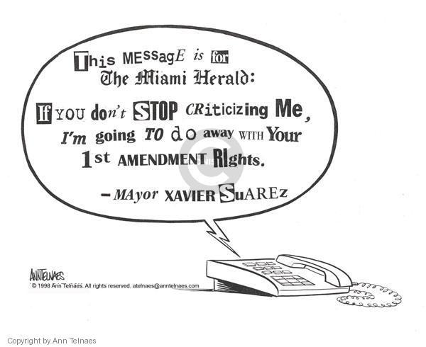 Cartoonist Ann Telnaes  Ann Telnaes' Editorial Cartoons 1998-01-08 unethical