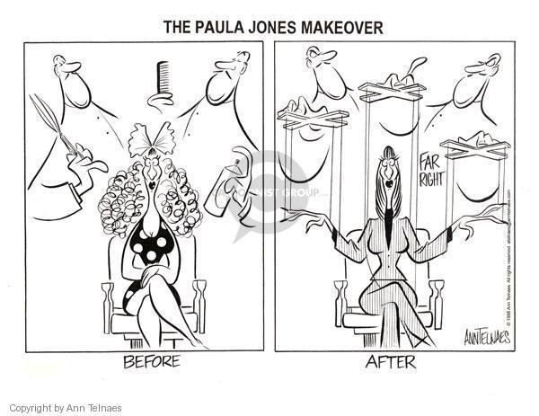 Cartoonist Ann Telnaes  Ann Telnaes' Editorial Cartoons 1998-01-14 conservative