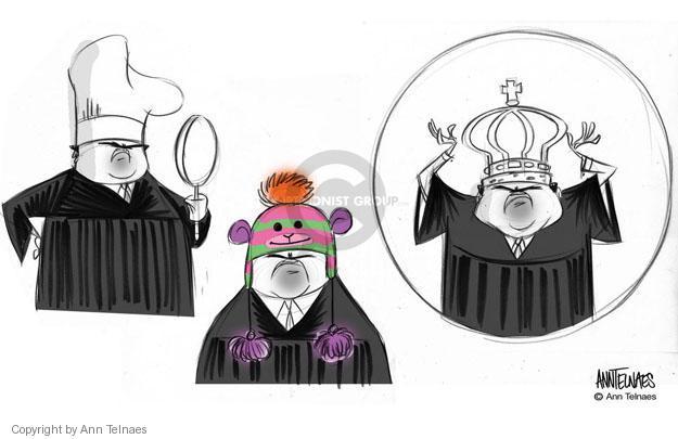 Ann Telnaes  Ann Telnaes' Editorial Cartoons 2013-02-21 supreme court justice