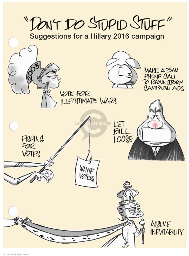 Cartoonist Ann Telnaes  Ann Telnaes' Editorial Cartoons 2014-08-13 Bill Clinton