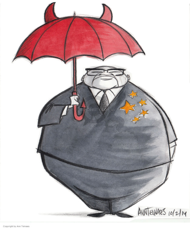 Ann Telnaes  Ann Telnaes' Editorial Cartoons 2014-10-02 protest