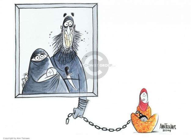 Ann Telnaes  Ann Telnaes' Editorial Cartoons 2014-12-25 burka