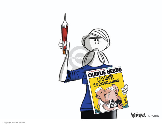 Cartoonist Ann Telnaes  Ann Telnaes' Editorial Cartoons 2015-01-07 freedom of expression