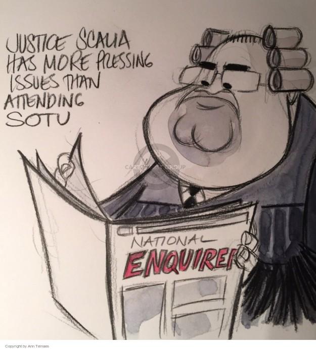 Ann Telnaes  Ann Telnaes' Editorial Cartoons 2015-01-21 State of the Union