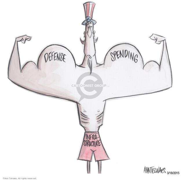 Cartoonist Ann Telnaes  Ann Telnaes' Editorial Cartoons 2015-03-18 military spending