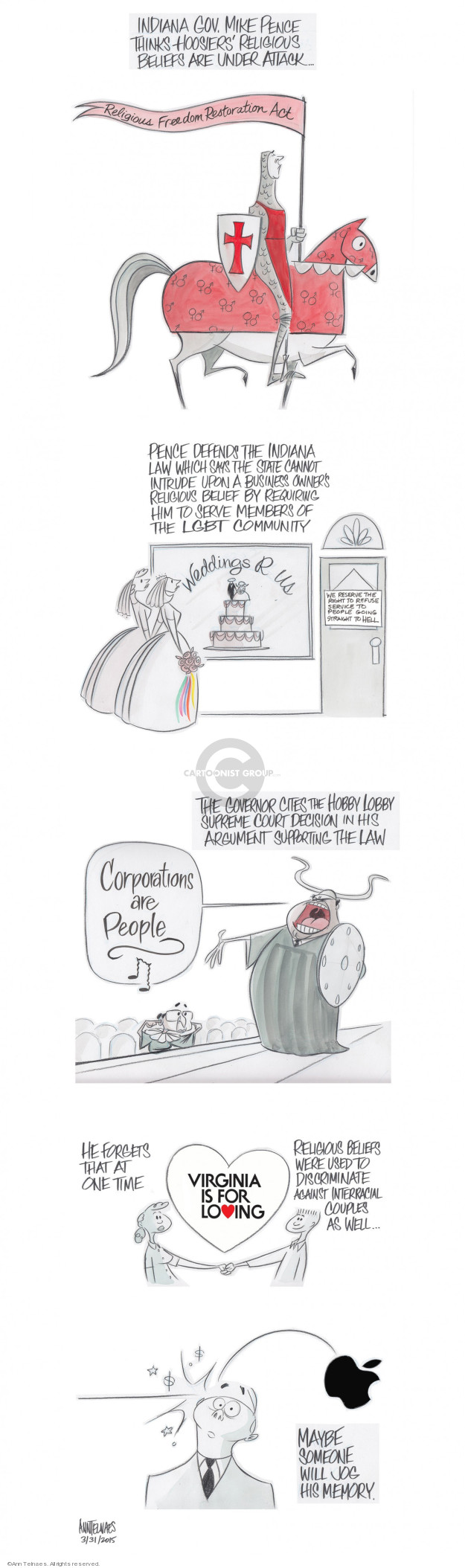 Cartoonist Ann Telnaes  Ann Telnaes' Editorial Cartoons 2015-03-31 discrimination