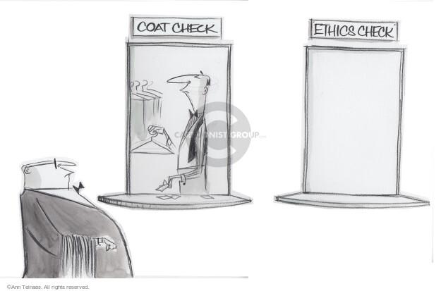 Cartoonist Ann Telnaes  Ann Telnaes' Editorial Cartoons 2015-04-27 unethical