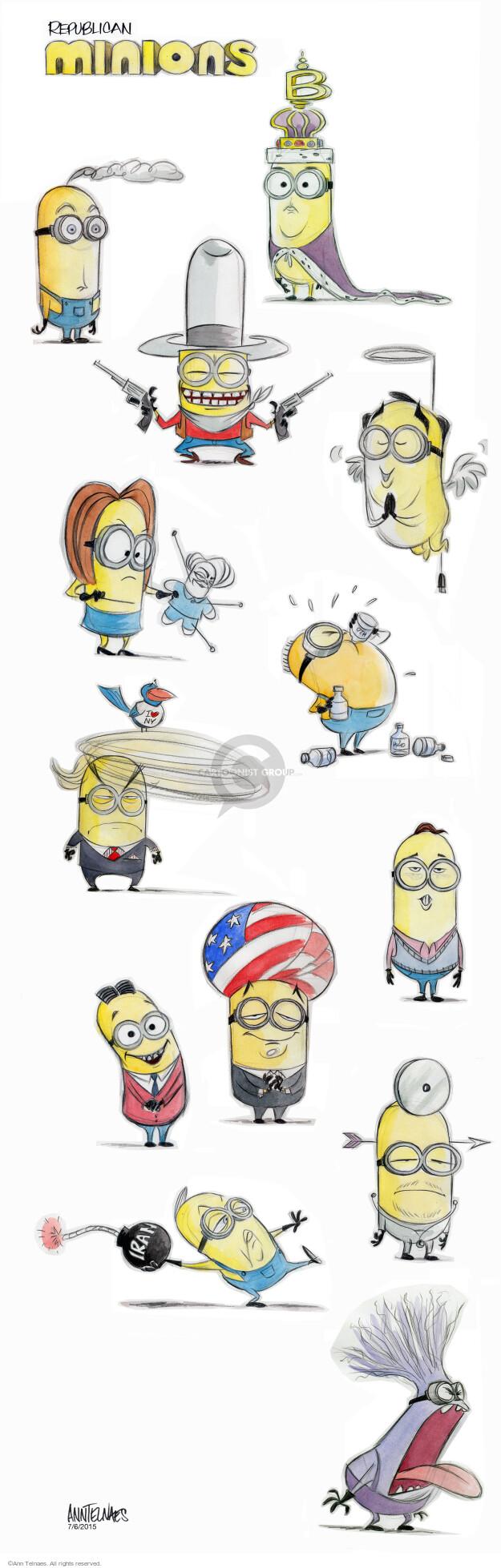 Ann Telnaes  Ann Telnaes' Editorial Cartoons 2015-07-06 2016 election