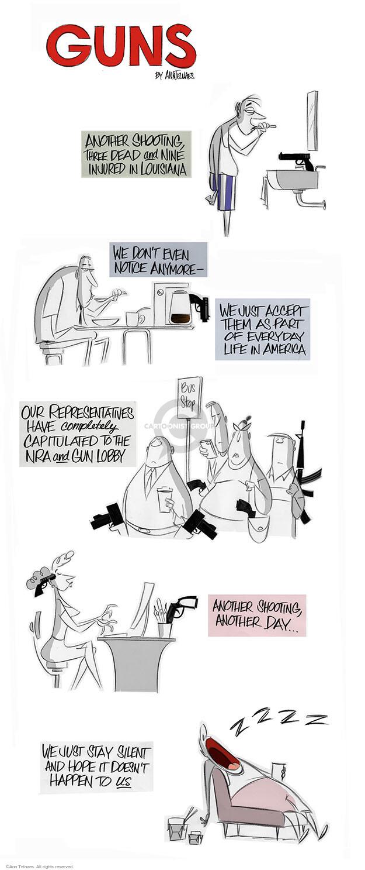 Cartoonist Ann Telnaes  Ann Telnaes' Editorial Cartoons 2015-07-24 shooting