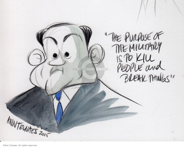Ann Telnaes  Ann Telnaes' Editorial Cartoons 2015-08-07 remark