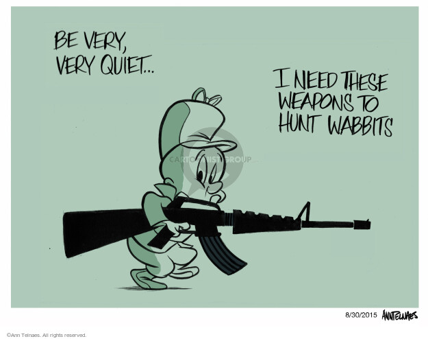 Cartoonist Ann Telnaes  Ann Telnaes' Editorial Cartoons 2015-08-30 gun rights