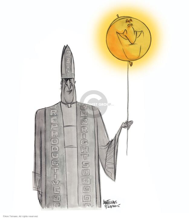 Ann Telnaes  Ann Telnaes' Editorial Cartoons 2015-09-23 pope