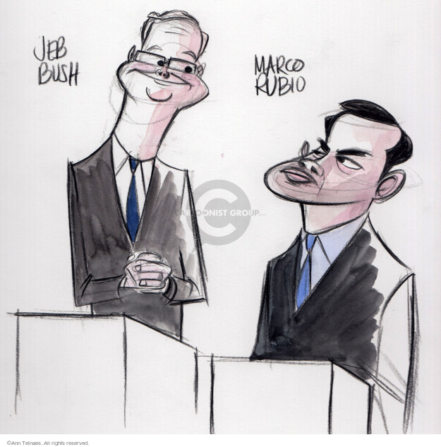 Ann Telnaes  Ann Telnaes' Editorial Cartoons 2015-10-28 bush