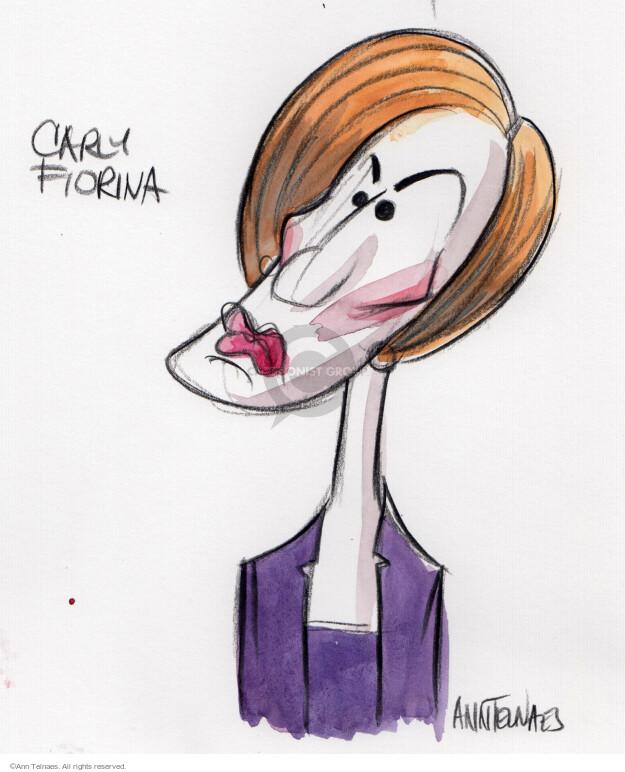 Ann Telnaes  Ann Telnaes' Editorial Cartoons 2015-10-28 Carly Fiorina