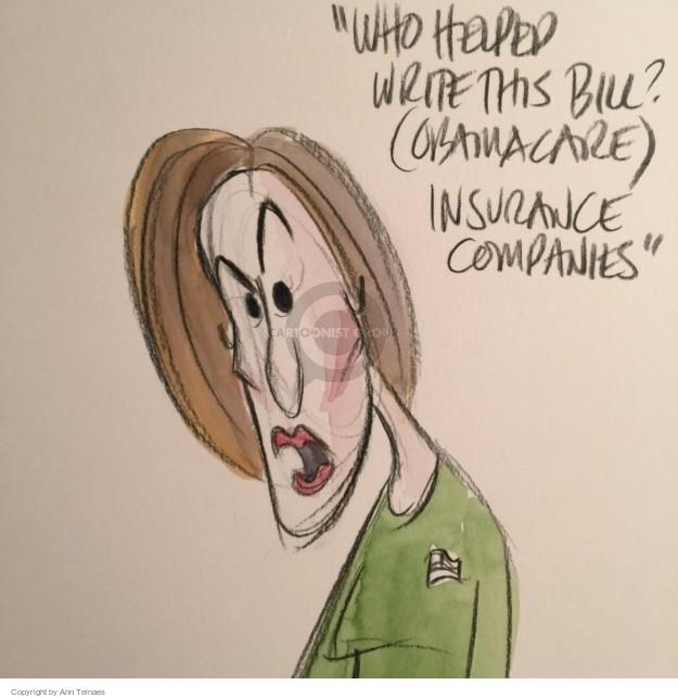 Cartoonist Ann Telnaes  Ann Telnaes' Editorial Cartoons 2015-11-11 political debate