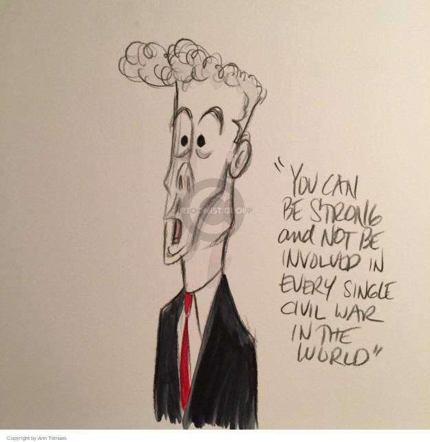 Ann Telnaes  Ann Telnaes' Editorial Cartoons 2015-11-11 defense
