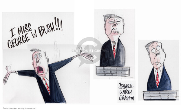 Ann Telnaes  Ann Telnaes' Editorial Cartoons 2015-12-16 bush