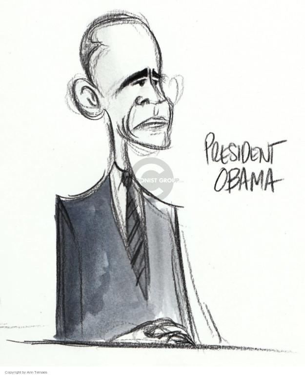 Ann Telnaes  Ann Telnaes' Editorial Cartoons 2016-01-13 Barack Obama