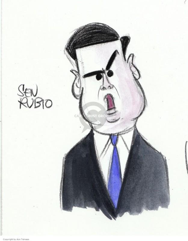 Ann Telnaes  Ann Telnaes' Editorial Cartoons 2016-01-15 Marco Rubio