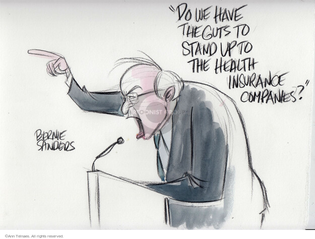 Ann Telnaes  Ann Telnaes' Editorial Cartoons 2016-01-18 Bernie Sanders