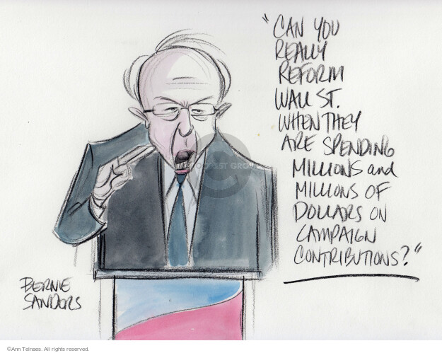 Cartoonist Ann Telnaes  Ann Telnaes' Editorial Cartoons 2016-01-18 democratic