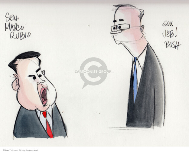 Ann Telnaes  Ann Telnaes' Editorial Cartoons 2016-01-28 bush