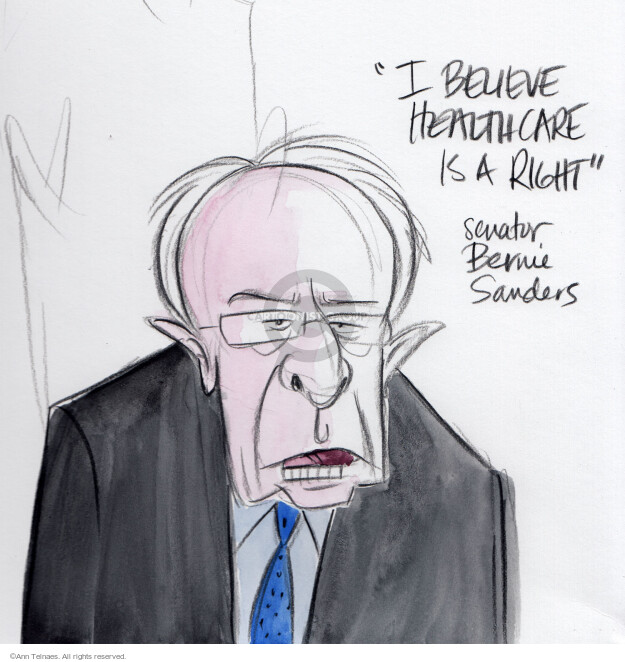 Ann Telnaes  Ann Telnaes' Editorial Cartoons 2016-02-04 2016 Election Bernie Sanders