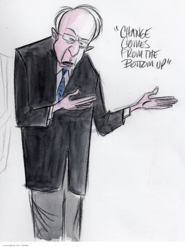 Ann Telnaes  Ann Telnaes' Editorial Cartoons 2016-02-04 Bernie Sanders