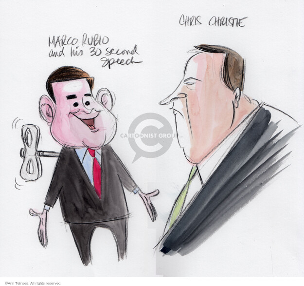Ann Telnaes  Ann Telnaes' Editorial Cartoons 2016-02-07 2016 Election Chris Christie