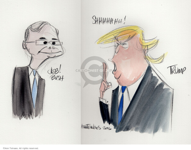 Ann Telnaes  Ann Telnaes' Editorial Cartoons 2016-02-07 bush