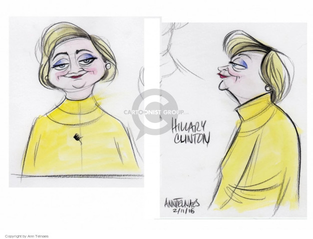 Cartoonist Ann Telnaes  Ann Telnaes' Editorial Cartoons 2016-02-11 body language