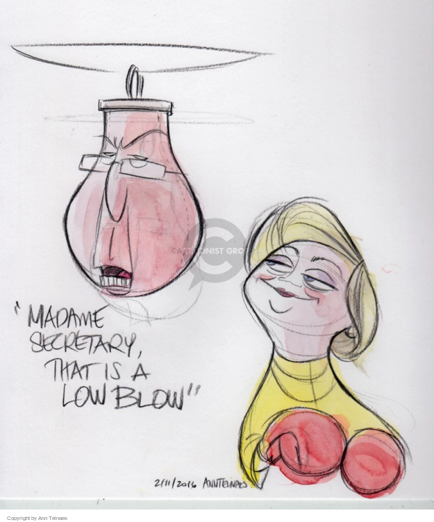 Cartoonist Ann Telnaes  Ann Telnaes' Editorial Cartoons 2016-02-11 debate