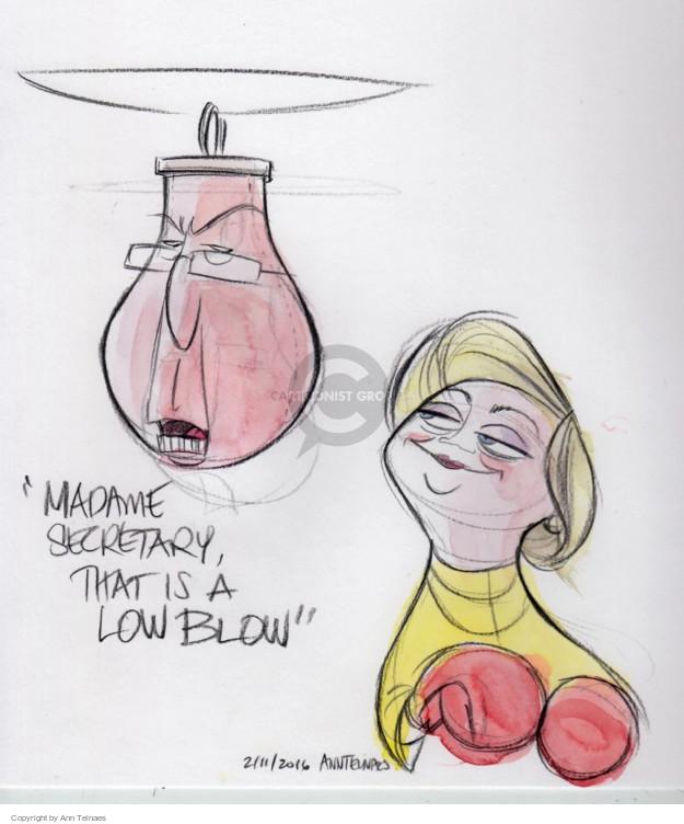 Ann Telnaes  Ann Telnaes' Editorial Cartoons 2016-02-11 Bernie