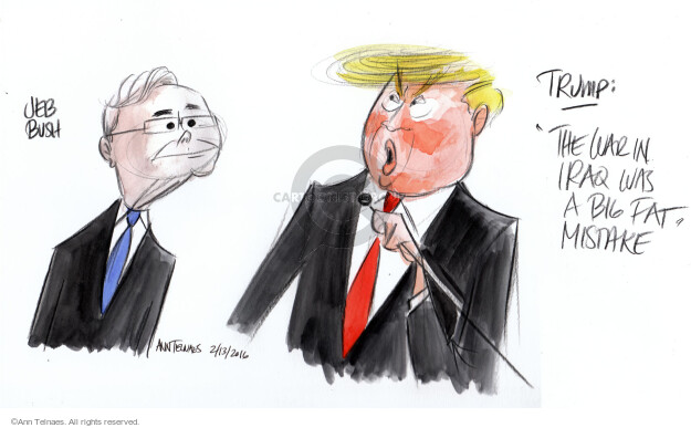 Ann Telnaes  Ann Telnaes' Editorial Cartoons 2016-02-13 George W. Bush