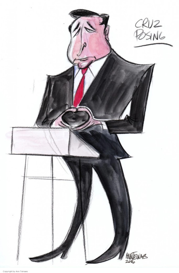 Cartoonist Ann Telnaes  Ann Telnaes' Editorial Cartoons 2016-02-13 body language