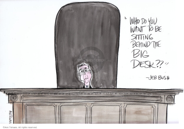 Ann Telnaes  Ann Telnaes' Editorial Cartoons 2016-02-13 bush