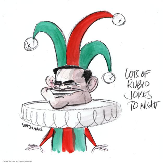 Ann Telnaes  Ann Telnaes' Editorial Cartoons 2016-02-18 2016 election Marco Rubio