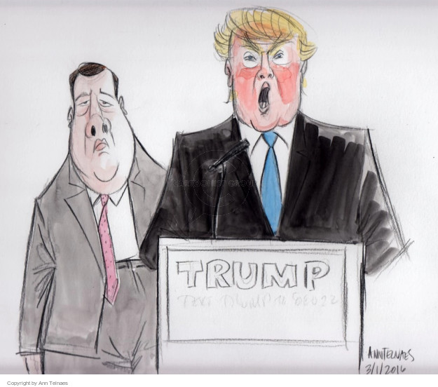 Ann Telnaes  Ann Telnaes' Editorial Cartoons 2016-03-02 2016 Election Chris Christie