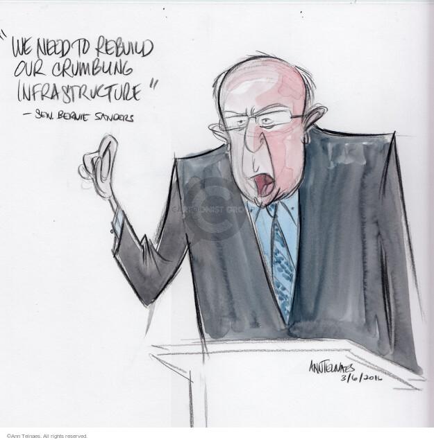 Ann Telnaes  Ann Telnaes' Editorial Cartoons 2016-03-06 Bernie Sanders