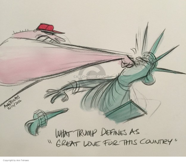 Cartoonist Ann Telnaes  Ann Telnaes' Editorial Cartoons 2016-03-10 supporter