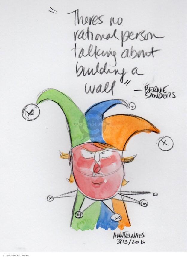 Ann Telnaes  Ann Telnaes' Editorial Cartoons 2016-03-13 2016 Election Bernie Sanders