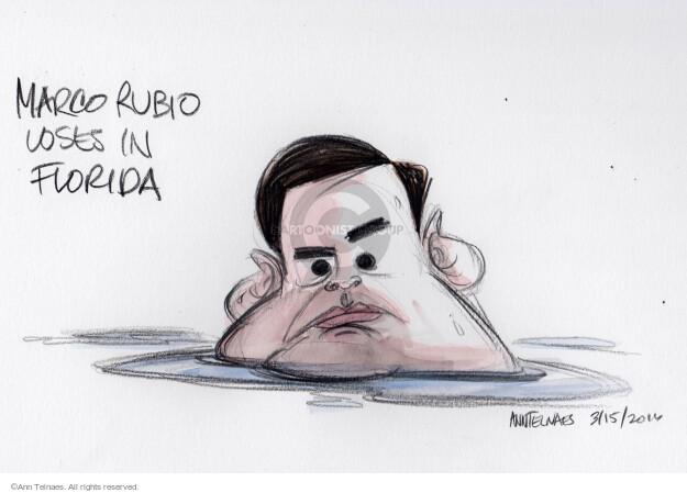 Ann Telnaes  Ann Telnaes' Editorial Cartoons 2016-03-16 2016 election Marco Rubio