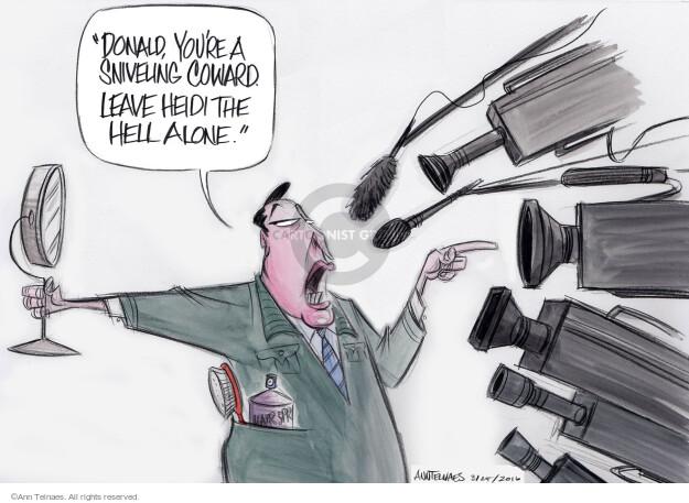 Ann Telnaes  Ann Telnaes' Editorial Cartoons 2016-03-25 Donald Trump media