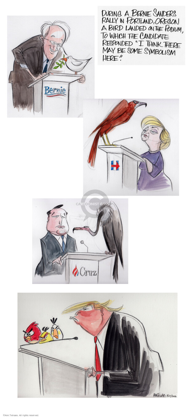 Ann Telnaes  Ann Telnaes' Editorial Cartoons 2016-03-27 think