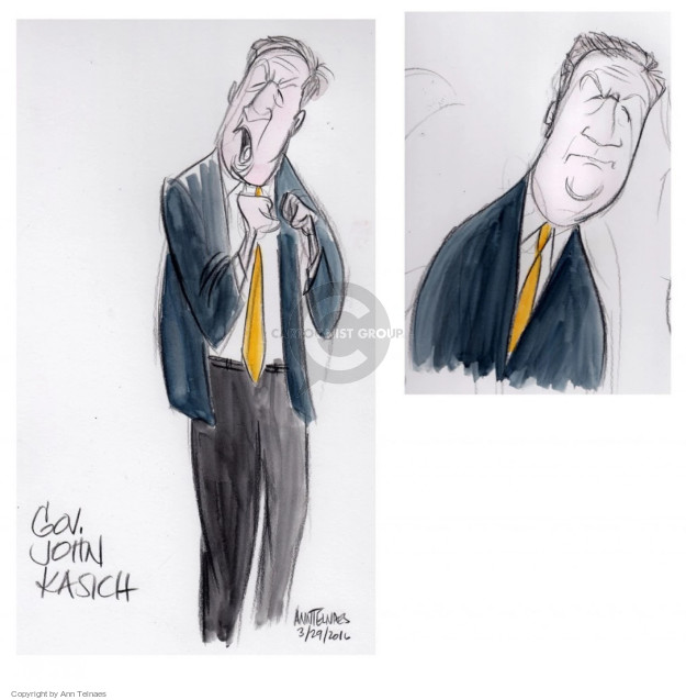 Cartoonist Ann Telnaes  Ann Telnaes' Editorial Cartoons 2016-03-29 governor