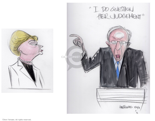 Cartoonist Ann Telnaes  Ann Telnaes' Editorial Cartoons 2016-04-15 political debate
