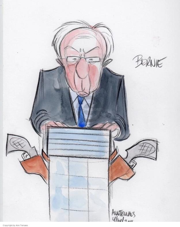 Ann Telnaes  Ann Telnaes' Editorial Cartoons 2016-04-15 2016 Election Bernie Sanders
