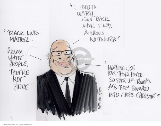 Ann Telnaes  Ann Telnaes' Editorial Cartoons 2016-05-01 network news